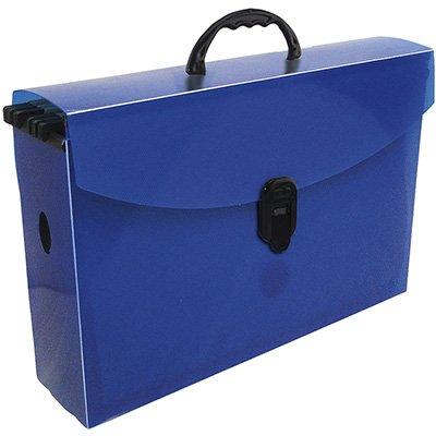 Arquivo maleta slim pp azul c/6 pastas suspensas kraft Dello PT 1 UN