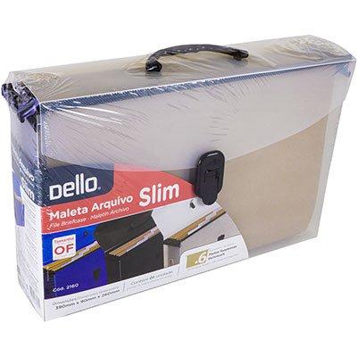 Arquivo maleta slim pp cristal c/6 pastas suspensas kraft Dello PT 1 UN