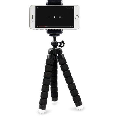 Tripé p/ Smartphone preto -1/4 Pol. AC380 Multilaser CX 1 UN