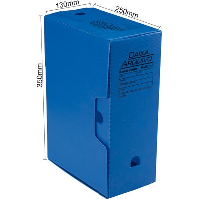 Arquivo morto novaonda 250x130x350mm azul Polibrás PT 5 UN