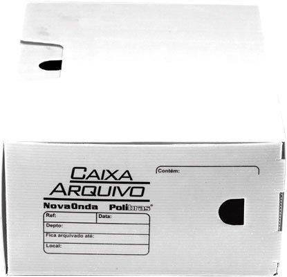 Arquivo morto novaonda 250x130x350mm branca Polibrás PT 5 UN