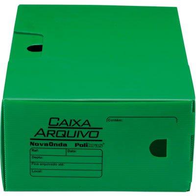 Arquivo morto novaonda 250x130x350mm verde Polibrás PT 5 UN