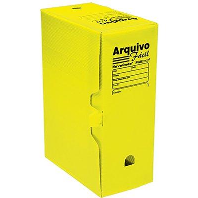 Arquivo morto novaonda fácil 250x130x350mm amarelo 044006 Polibrás PT 5 UN