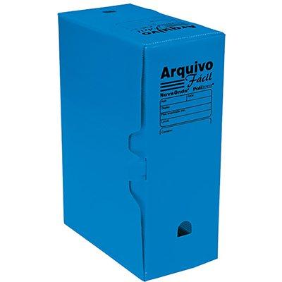 Arquivo morto novaonda fácil 250x130x350mm azul 044009 Polibrás PT 5 UN