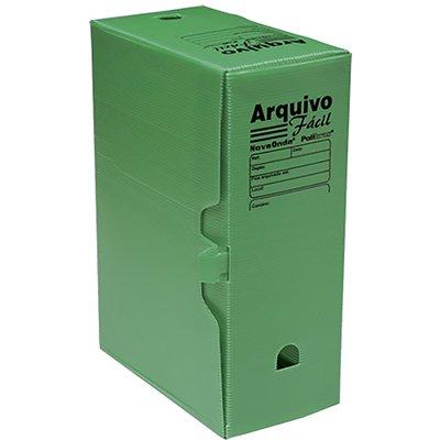 Arquivo morto novaonda fácil 250x130x350mm verde 044008 Polibrás PT 5 UN