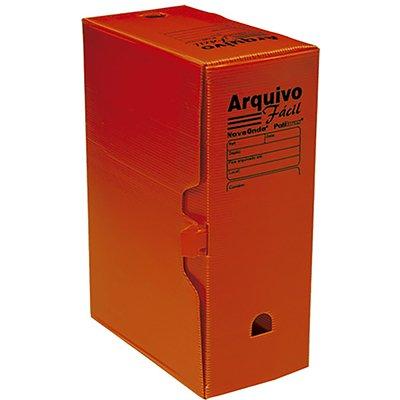 Arquivo morto novaonda fácil 250x130x350mm vermelho 044007 Polibrás PT 5 UN