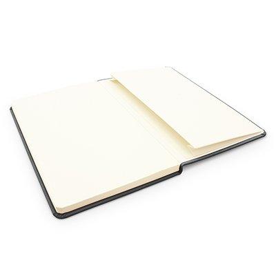 Caderno anotações 13x21cm com pauta 80 fls preto Spiral PT 1 UN