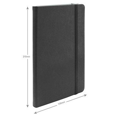 Caderno anotações 13x21cm sem pauta 80 fls preto Spiral PT 1 UN