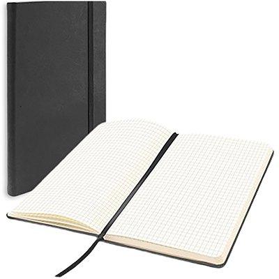 Caderno anotações 13x21cm quadriculado 80 fls preto Spiral PT 1 UN