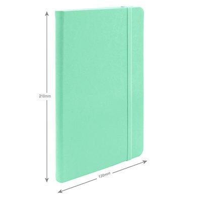 Caderno anotações 13x21cm sem pauta 80 fls verde pastel Spiral PT 1 UN
