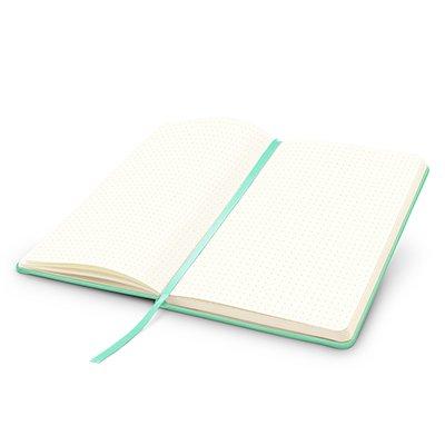 Caderno anotações 13x21cm pontilhado 80 fls verde pastel Spiral PT 1 UN