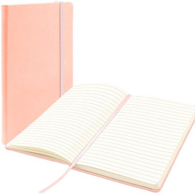 Caderno anotações 13x21cm com pauta 80 fls rosa pastel Spiral UN 1 UN