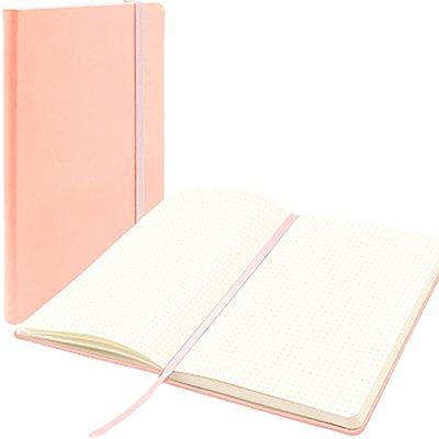 Caderno anotações 13x21cm pontilhado 80 fls rosa pastel Spiral PT 1 UN