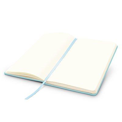 Caderno anotações 13x21cm sem pauta 80 fls azul pastel Spiral PT 1 UN
