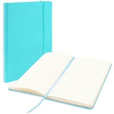 Caderno anotações 13x21cm pontilhado 80 fls azul pastel Spiral PT 1 UN