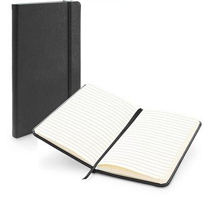 Caderno anotações 9x15cm com pauta 80 fls preto Spiral PT 1 UN