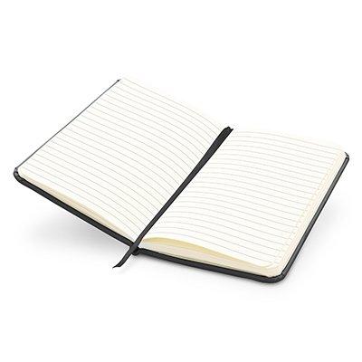 Caderno anotações 15x9cm com pauta 80 fls preto Spiral PT 1 UN