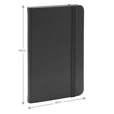 Caderno anotações 15x9cm sem pauta 80 fls preto Spiral PT 1 UN