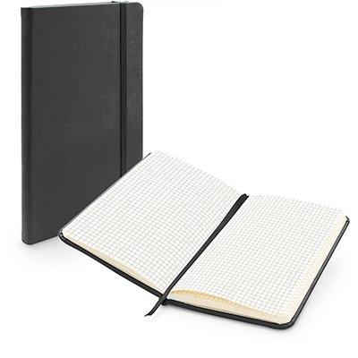 Caderno anotações 9x15cm quadriculado 80 fls preto Spiral PT 1 UN