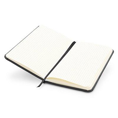 Caderno anotações 15x9cm pontilhado 80 fls preto Spiral PT 1 UN