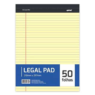 Bloco Papel A4 Amarelo Legal Pad c/ 50 folhas - Spiral PT 1 BL