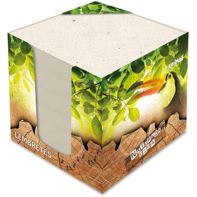 Bloco cubo lembrete 85x85 90gr Natureza Viva 77848 Spiral Nat PT 600 FL