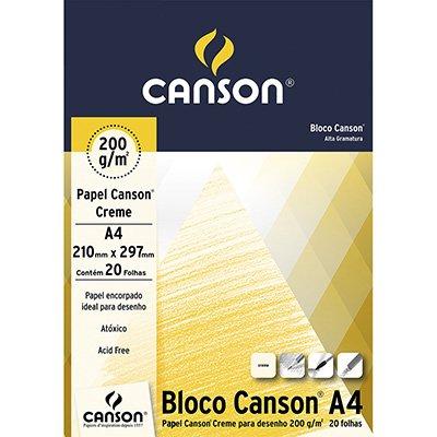 Bloco desenho A4 creme 200g Canson BL 20 FL