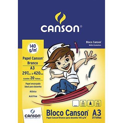 Bloco desenho A3 branco 140g Canson BL 20 FL