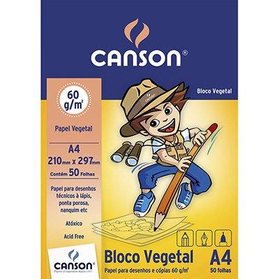 Bloco vegetal liso A4 60g Canson BL 50 FL
