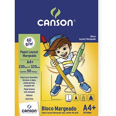 Bloco lay-out margeado A4+ 60g Canson BL 50 FL