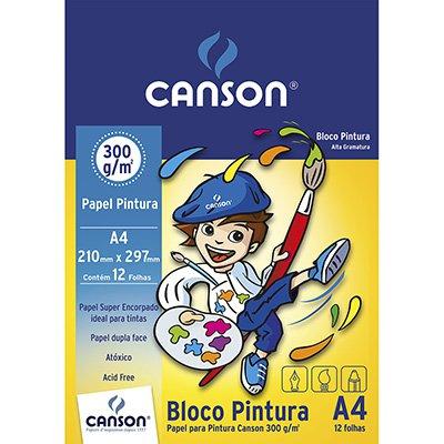Bloco pintura A4 300g Canson BL 12 FL