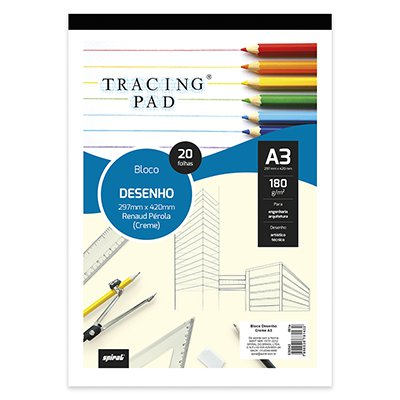 Bloco desenho A3 creme 180g Tracing Pad 81432 Spiral BL 20 FL