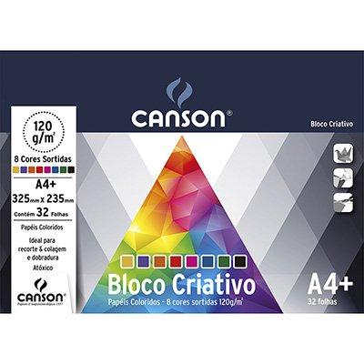 Bloco Criativo 120g 325x235mm c/8 cores 66667158 Canson PT 32 FL