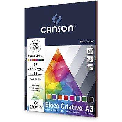 Bloco Criativo 120g 420x297mm c/ 8cores 66667161 Canson PT 32 FL
