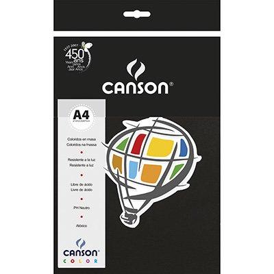 Papel 180g 210x297g Color (preto) 66661211 Canson PT 10 FL
