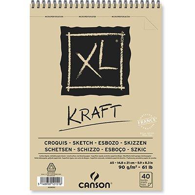 Bloco XL Kraft A5 90gm2 60082832 Canson BL 40 FL