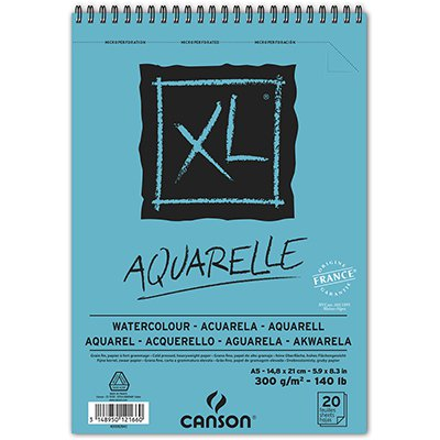 Bloco XL Aquarelle A5 300gm2 60082843 Canson BL 20 FL
