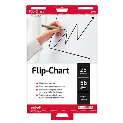 Bloco flip chart 56gr 64x88cm (c/25 fls) Spiral PT 1 UN