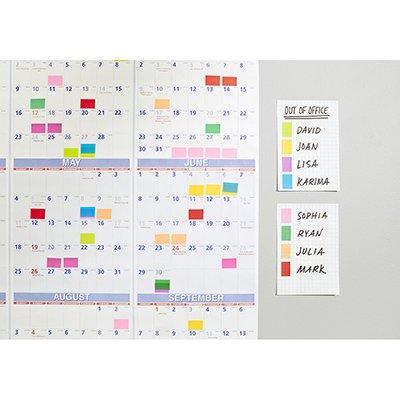 Blocos Adesivos Post-it Neon Sortido - 38 mm x 50 mm - 4 unidades de 100 folhas cada (total 400 folhas) 3M PT 4 UN