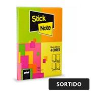 Bloco adesivo 38mm x 51mm sortido - 4 unidades de 50 folhas cada (total 200 folhas) - Stick Note PT 4 UN