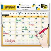 Calendário autoadesivo 150x203 mensal/semanal 42fls Stick Note PT 1 UN
