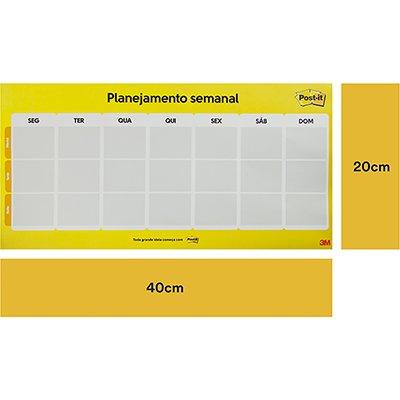 Calendário Semanal post-it c/ 2bl HB00460566 3M PT 1 UN