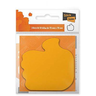 Bloco autoadesivo 70x70 like laranja neon c/50fls Stick Note PT 1 UN