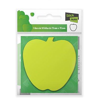 Bloco autoadesivo 70x70 maçã verde neon c/50fls Stick Note PT 1 UN