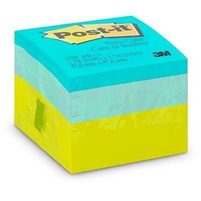 Bloco Adesivo Post-it® Cubo Verde - 47,6 mm x 47,6 mm - 400 folhas 3M PT 1 UN