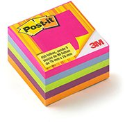 Bloco autoadesivo Post-it 76x76 sortido c/450fls 3M PT 1 UN