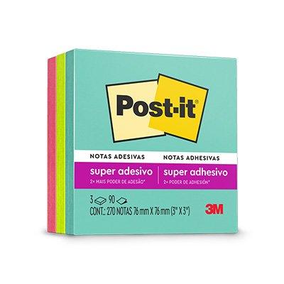 Bloco Post-it 76x76 Coleção anos 80 c/ 270fls 3M PT 1 BL