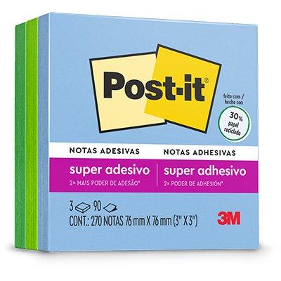 Bloco Post-it 76x76 Coleção anos 2000 c/ 270fls 3M PT 1 BL