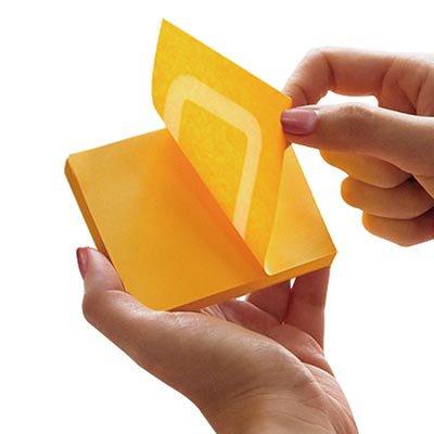 Bloco autoadesivo 76x76 360 graus laranja c/100fls Stick Note PT 1 UN
