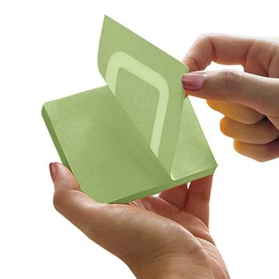 Bloco autoadesivo 76x76 360 graus verde c/100fls Stick Note PT 1 UN